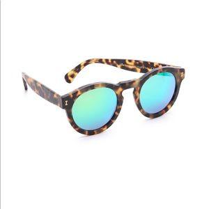 J.Crew Tortoise Sunglasses Blue Mirrored Lens